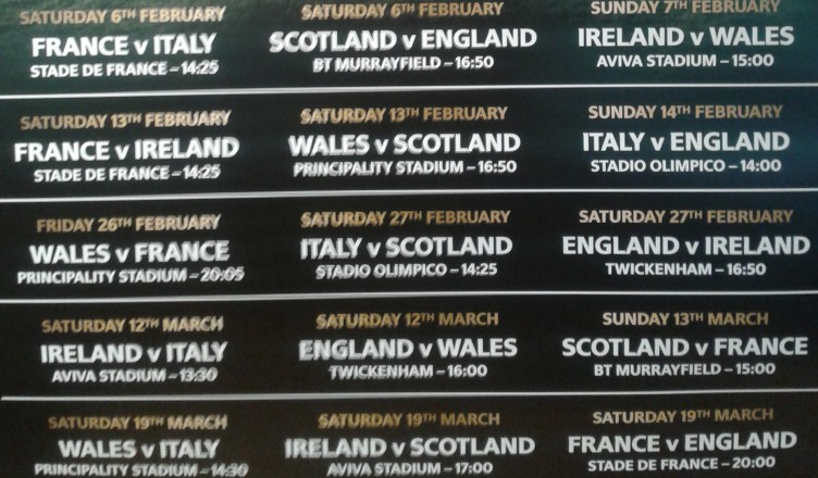 RBS 6 Nations Fictures 2016